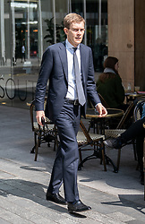 © Licensed to London News Pictures. 30/04/2019. London, UK. Labour Party's Executive Director of Strategy and Communications Seumas Milne arrives Labour Party headquarters for a National Executive Meeting at which Labour's position on a second EU vote will be decided. Photo credit : Tom Nicholson/LNP