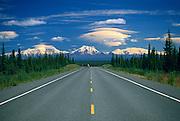 View of Wrangell Mountains from Glenn Highway<br /> Alaska