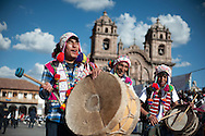 Feast of Corpus Christi. One of the few groups of musical accompaniment that uses traditional instruments