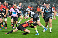 Rugby Union - 2019 / 2020 Guinness Pro14 - Ospreys vs. Southern Kings<br /> <br /> Hanno Dirksen of Ospreys  tackled by Sarel Pretorius, at The Liberty Stadium.<br /> <br /> COLORSPORT/WINSTON BYNORTH