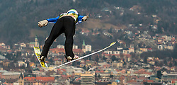 02.01.2016, Bergisel Schanze, Innsbruck, AUT, FIS Weltcup Ski Sprung, Vierschanzentournee, Training, im Bild Daniel Andre Tande (NOR) // Daniel Andre Tande of Norway during his Practice Jump for the Four Hills Tournament of FIS Ski Jumping World Cup at the Bergisel Schanze, Innsbruck, Austria on 2016/01/02. EXPA Pictures © 2016, PhotoCredit: EXPA/ JFK