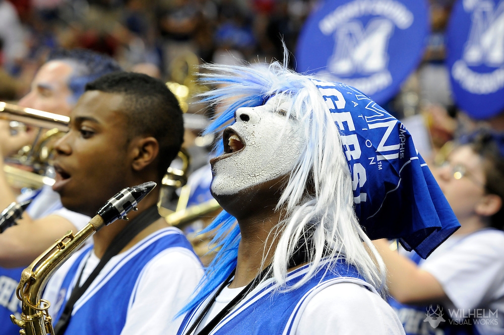 7 APR 2008: Bands, cheerleaders and fans during final game of the 2008 NCAA Final Four Division I Men's Basketball championships held at the Alamodome in San Antonio, TX.  Kansas defeated Memphis 75-68 to win the national title.  © Brett Wilhelm
