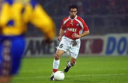 18-10-2001 VOETBAL: UEFA CUP FC UTRECHT - PARMA: UTRECHT<br /> Utrecht verliest met 3-1 van Parma / Jean Paul de Jong<br /> ©2001-WWW.FOTOHOOGENDOORN.NL