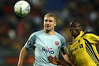 Fotball<br /> UEFA Cup<br /> Foto: Dppi/Digitalsport<br /> NORWAY ONLY<br /> <br /> FOOTBALL - UEFA CUP 2007/2008 - 1ST ROUND - 1ST LEG - FC SOCHAUX v PANIONIOS - 20/09/2007 - MARCELO PLETSCH (PA) / MOUMOUNI DAGANO (SO)