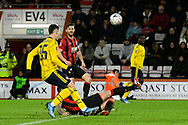 Steve Cook (3) of AFC Bournemouth slides in to deny Gabriel Martinelli (35) of Arsenal a shot at goal during the The FA Cup match between Bournemouth and Arsenal at the Vitality Stadium, Bournemouth, England on 27 January 2020.
