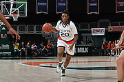 January 8, 2017: Keyona Hayes #20 of Miami in action during the NCAA basketball game between the Miami Hurricanes and the Notre Dame Fighting Irish in Coral Gables, Florida. The 'Irish defeated the 'Canes 67-55.