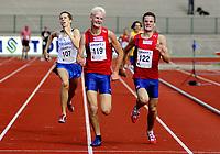 Friidrett<br /> Nordisk Landskamp<br /> Junior<br /> Fana Stadion<br /> 17. August 2008<br /> 1500 m<br /> Tommi Sundell , Finland<br /> Hans Kristian Fløystad , Norge<br /> Henrik Ingebrigtsen , Norge<br /> Foto : Astrid M. Nordhaug
