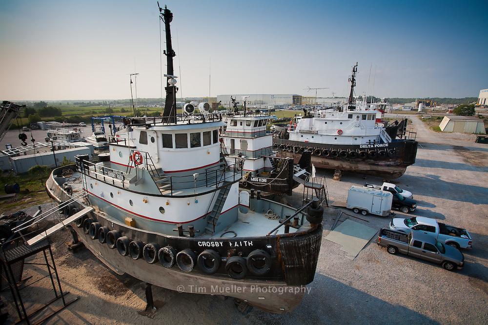 Crosby Marine Services shipyard in Houma, Louisiana.