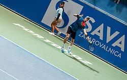 Blaz Rola of Slovenia playing singles during ATP Challenger Zavarovalnica Sava Slovenia Open 2019, day 6, on August 14, 2019 in Sports centre, Portoroz/Portorose, Slovenia. Photo by Vid Ponikvar / Sportida