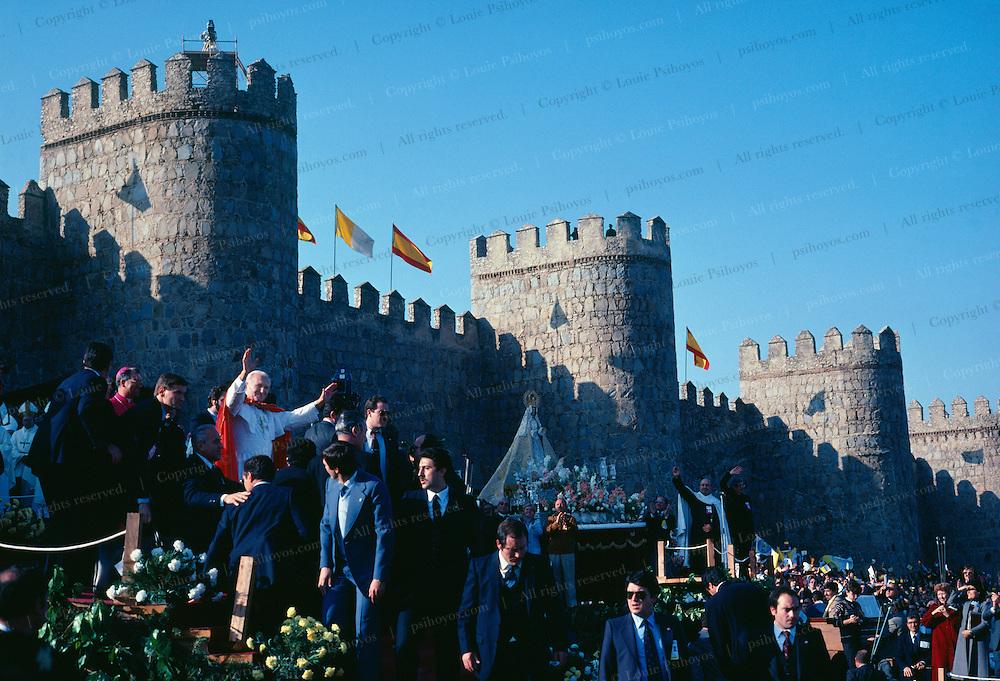 Pope John Paul II in Avila, Spain 1983.