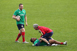 British & Irish Lions Ken Owens and Kyle Sinckler during the captain's run at the QBE Stadium, Auckland.