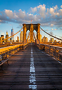 The Brooklyn Bridge in New York City is one of the oldest suspension bridges in the United States