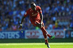 Sadio Mane of Liverpool shoots at goal - Mandatory by-line: Nizaam Jones/JMP - 21/04/2019 -  FOOTBALL - Cardiff City Stadium - Cardiff, Wales -  Cardiff City v Liverpool - Premier League