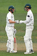 Central Districts Dane Cleaver (left) in day 2 of the Plunket Shield Cricket match, Central Districts v Northern Districts, McLean Park, Napier, Monday, February 24, 2020. Copyright photo: Kerry Marshall / www.photosport.nz