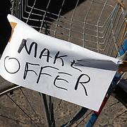"""Make Offer"" sign at Bicycle Swap Meet in Tucson, Arizona. Bike-tography by Martha Retallick."