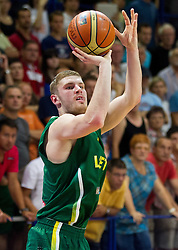 Dovydas Redikas of Lithuania during basketball match between National teams of Slovenia and Lithuania in Preliminary Round of U20 Men European Championship Slovenia 2012, on July 14, 2012 in Domzale, Slovenia. Slovenia defeated Lithuania 87-81. (Photo by Vid Ponikvar / Sportida.com)