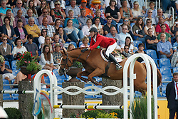 Bruynseels Niels, (BEL), Pommeau Du Heup<br /> Team completion and 2nd individual qualifier<br /> FEI European Championships - Aachen 2015<br /> © Hippo Foto - Dirk Caremans<br /> 20/08/15