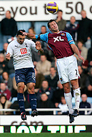 Photo: Tom Dulat/Sportsbeat Images.<br /> <br /> West Ham United v Tottenham Hotspur. The FA Barclays Premiership. 25/11/2007.<br /> <br /> Lucas Neill of West Ham United and Steed Malbranque of Tottenham Hotspur head for the ball.