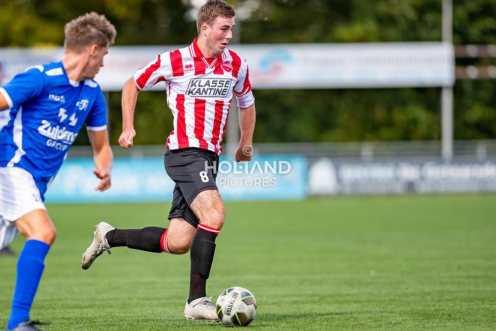 01-09-2019: Voetbal: Alphense Boys v Hoogeveen: Alphen aan den Rijn<br /> Hoofdklasse A - Seizoen 2019-2020<br /> #8 Arjan Ouwendijk (Alphense Boys)