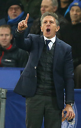 Leicester City manager Claude Puel gestures on the touchline