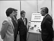 Presentation of award to IDA student enterprise competition, IDA Enterprise House, Pearse Street, Dublin, <br /> 11th May 1984