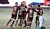 Fotball, 30. oktober 2018 , OBOSligaen , 1. divisjon ,  HamKam - Mjøndalen <br /> Quint Arie Jansen , MIF jubel