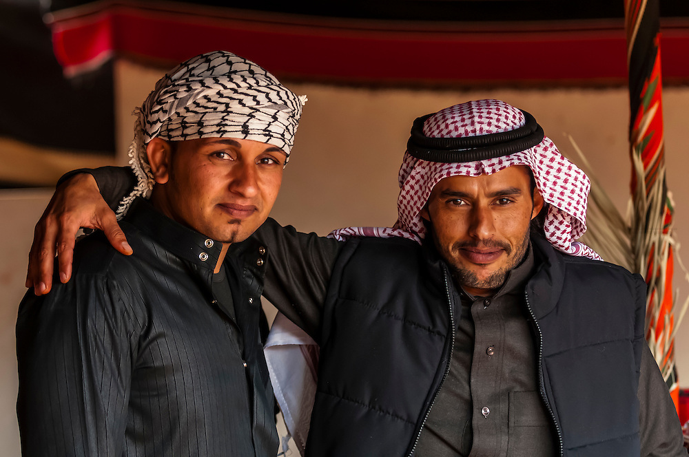 Bedouin men, Captain's Desert Camp, Wadi Rum (in the Arabian Desert), Jordan
