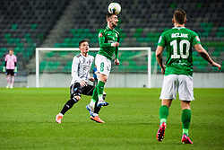 during the football match between NK Olimpija Ljubljana and NS Mura in 25. Round of Prva liga Telekom Slovenije 2019/20, on March 8, 2020 in Stadion Stozice, Ljubljana, Slovenia. Photo by Grega Valancic / Sportida