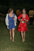 Flora White and Lucy Rigg, QUINTESSENTIALLY AND ELEPHANT FAMILY TRUNK SHOW PARTY. SERPENTINE PAVILION, HYDE PARK. 16 SEPTEMBER 2007. -DO NOT ARCHIVE-© Copyright Photograph by Dafydd Jones. 248 Clapham Rd. London SW9 0PZ. Tel 0207 820 0771. www.dafjones.com.