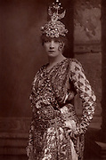 Sarah Bernhardt (1844-1923) French actress, widely held to be the greatest actress of her day in any language.  From 'The Cabinet Portrait Gallery' (London, 1890-1894).  Woodburytype after photograph by W & D Downey.