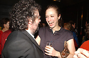 Stephen Poliakoff and Jodhi May. Blackbird press night,  Mint Leaf. London. 13 February 2006. ONE TIME USE ONLY - DO NOT ARCHIVE  © Copyright Photograph by Dafydd Jones 66 Stockwell Park Rd. London SW9 0DA Tel 020 7733 0108 www.dafjones.com