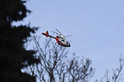 UK, March 6 2017:  Essex Air Ambulance helicopter over Chelmsford. Copyright 2017 Peter Horrell.