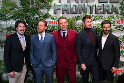 (L-R) J. C. Chandor, Charlie Hunnam, Ben Affleck, Garrett Hedlund and Oscar Isaac attend the Triple Frontier premiere held at Callao Cinema on March 6, 2019 in Madrid, Spain. Photo by Alconada/AlterPhotos/ABACAPRESS.COM
