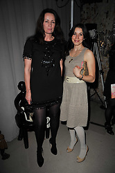 Left to right, and LAUREN KEMP and TRICIA RONANE  at the 2nd Rodial Beautiful Awards in aid of the Hoping Foundation held at The Sanderson Hotel, 50 Berners Street, London on 1st February 2011.