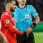 NLD/Amsterdam/20181023 - Champions Leaguewedstrijd  Ajax - SL Benfica, scheidsrechter Ruddy Buquet