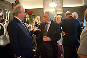 GRAYDON CARTER; GIANCARLO GIACOMETTI;, Graydon and Anna Carter host a lunch for Carolina Herrera to celebrate the ipening of her new shop on Mount St. .The Connaught. London. 20 January 2010