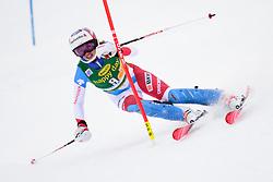 January 7, 2018 - Kranjska Gora, Gorenjska, Slovenia - Michelle Gisin of Switzerland competes on course during the Slalom race at the 54th Golden Fox FIS World Cup in Kranjska Gora, Slovenia on January 7, 2018. (Credit Image: © Rok Rakun/Pacific Press via ZUMA Wire)