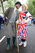 London, United Kingdom. June 3rd 2012..Queen Elizabeth II Diamond Jubilee 1952-2012.People before the Thames Diamond Jubilee Pageant