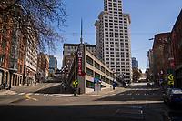 James Street & Yesler Way, Downtown (April 4, 2020).