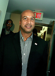 May 19th, 2006. New Orleans, Louisiana. On the campaign trail.  Mayor Ray Nagin exits. After a brief visit to the Mercy Endeavors Senior Citizen Center in the Garden District before the run off elections tomorrow, Saturday May 20th.<br /> Photo; Charlie Varley/varleypix.com