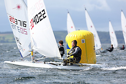 Day 4 NeilPryde Laser National Championships 2014 held at Largs Sailing Club, Scotland from the 10th-17th August.<br /> <br /> 204022, Rory WILSON<br /> <br /> Image Credit Marc Turner