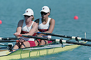 St Catherines, CANADA,   Women's Lightweight Double Sculls. CAN LW2X, Gen MEREDITH and Fiona MILNE. 1999 World Rowing Championships - Martindale Pond, Ontario. 08.1999..[Mandatory Credit; Peter Spurrier/Intersport-images]   .... 1999 FISA. World Rowing Championships, St Catherines, CANADA