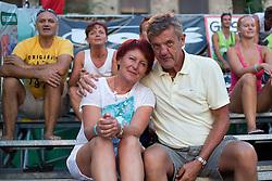 Parents of Jernej Potocnik at tournament for Slovenian national championship - Drzavno prvenstvo Kranj 2013 on July 26, 2013, in Kranj, Slovenia. (Photo by Matic Klansek Velej / Sportida)
