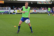 AFC Wimbledon defender Paul Robinson (6) warming up during the EFL Sky Bet League 1 match between AFC Wimbledon and Oldham Athletic at the Cherry Red Records Stadium, Kingston, England on 21 April 2018. Picture by Matthew Redman.