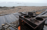 Ruins of a house, Svalbard, Norway