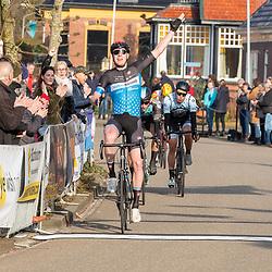 07-03-2020: Wielrennen: Ronde van Groningen: Usquert <br />Tijmen Eising wint voor tweede keer Ronde van Groningen