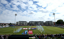 England Women and Australia Women walk out at Bristol's County Ground - Mandatory by-line: Robbie Stephenson/JMP - 09/07/2017 - CRICKET - Bristol County Ground - Bristol, United Kingdom - England v Australia - ICC Women's World Cup match 19