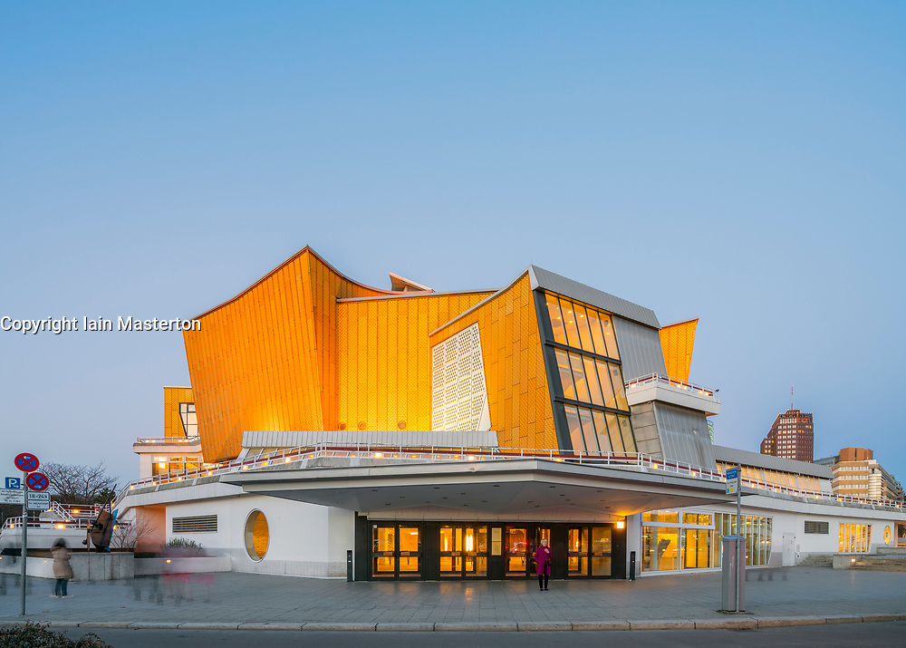 View of Berlin Philharmonie Chamber Music Hall in Berlin, Germany