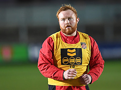 Dragons' Dan Suter during warm up<br /> <br /> Photographer Mike Jones/Replay Images<br /> <br /> Guinness PRO14 Round Round 18 - Dragons v Cheetahs - Friday 23rd March 2018 - Rodney Parade - Newport<br /> <br /> World Copyright © Replay Images . All rights reserved. info@replayimages.co.uk - http://replayimages.co.uk