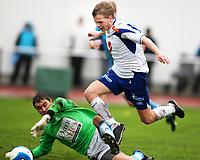 Fotball Adeccoliga 1 divisjon <br />Sandnes Ulf - FK Haugesund 251008<br /><br />Foto: Sigbjørn Andreas Hofsmo, Digitalsport<br /><br />Nils Joakim Våge - Artur Kotenko Kotenkov